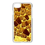 Yellow Cast Background Apple iPhone 8 Seamless Case (White) Front