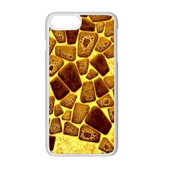 Yellow Cast Background Apple Iphone 8 Plus Seamless Case (white) by Jojostore