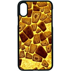 Yellow Cast Background Apple Iphone X Seamless Case (black) by Jojostore