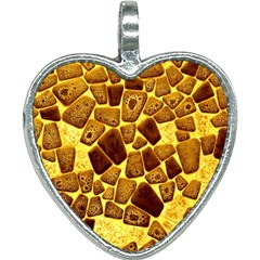 Yellow Cast Background Heart Necklace by Jojostore