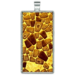 Yellow Cast Background Rectangle Necklace by Jojostore