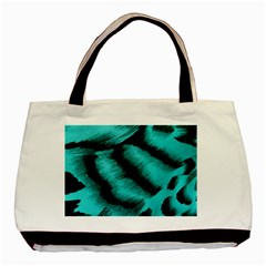 Blue Background Fabrictiger  Animal Motifs Basic Tote Bag (two Sides) by Jojostore