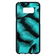 Blue Background Fabrictiger  Animal Motifs Samsung Galaxy S8 Plus Black Seamless Case