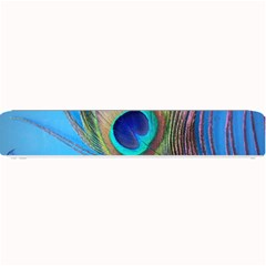Peacock Feather Blue Green Bright Small Bar Mats by Jojostore