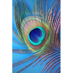 Peacock Feather Blue Green Bright 5 5  X 8 5  Notebook by Jojostore