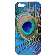 Peacock Feather Blue Green Bright Apple Iphone 5 Hardshell Case by Jojostore