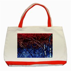 Autumn Fractal Forest Background Classic Tote Bag (red) by Jojostore