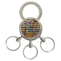 Flower Seeds For Sale At Garden Center Pattern 3 Ring Key Chains