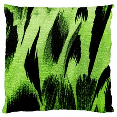Green Tiger Background Fabric Animal Motifs Standard Flano Cushion Case (one Side) by Jojostore