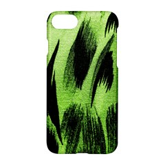 Green Tiger Background Fabric Animal Motifs Apple Iphone 7 Hardshell Case