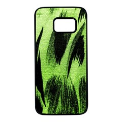 Green Tiger Background Fabric Animal Motifs Samsung Galaxy S7 Black Seamless Case