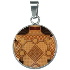 The Elaborate Floor Pattern Of The Sydney Queen Victoria Building 20mm Round Necklace