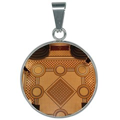 The Elaborate Floor Pattern Of The Sydney Queen Victoria Building 25mm Round Necklace