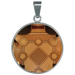 The Elaborate Floor Pattern Of The Sydney Queen Victoria Building 30mm Round Necklace