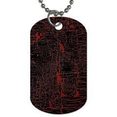 Black And Red Background Dog Tag (one Side) by Jojostore