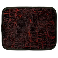 Black And Red Background Netbook Case (large)