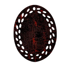 Black And Red Background Ornament (oval Filigree) by Jojostore