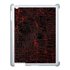 Black And Red Background Apple Ipad 3/4 Case (white) by Jojostore