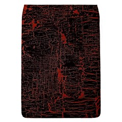 Black And Red Background Removable Flap Cover (s)