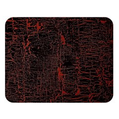 Black And Red Background Double Sided Flano Blanket (large)