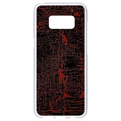 Black And Red Background Samsung Galaxy S8 White Seamless Case by Jojostore