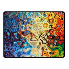 Background Structure Absstrakt Color Texture Double Sided Fleece Blanket (small)