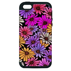 Floral Pattern Apple Iphone 5 Hardshell Case (pc+silicone) by Jojostore