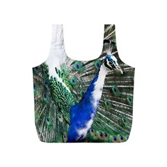 Animal Photography Peacock Bird Full Print Recycle Bag (s) by Jojostore