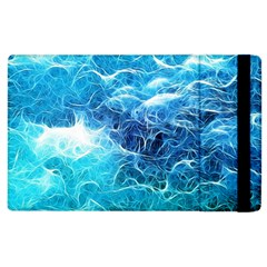 Fractal Ocean Waves Artistic Background Apple Ipad 2 Flip Case