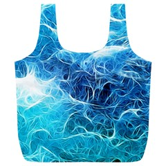 Fractal Ocean Waves Artistic Background Full Print Recycle Bag (xl) by Jojostore