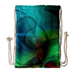 Background Nebulous Fog Rings Drawstring Bag (large)