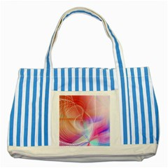 Background Nebulous Fog Rings Striped Blue Tote Bag