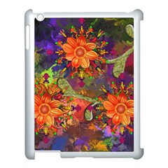 Abstract Flowers Floral Decorative Apple Ipad 3/4 Case (white) by Jojostore