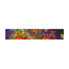 Abstract Flowers Floral Decorative Flano Scarf (mini)