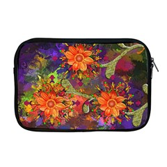 Abstract Flowers Floral Decorative Apple Macbook Pro 17  Zipper Case