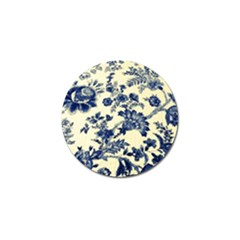 Vintage Blue Drawings On Fabric Golf Ball Marker by Jojostore