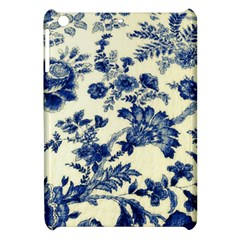 Vintage Blue Drawings On Fabric Apple Ipad Mini Hardshell Case