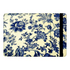 Vintage Blue Drawings On Fabric Samsung Galaxy Tab Pro 10 1  Flip Case by Jojostore