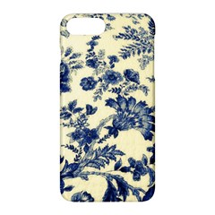 Vintage Blue Drawings On Fabric Apple Iphone 8 Plus Hardshell Case
