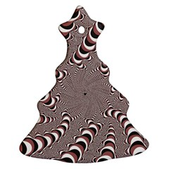 Digital Fractal Pattern Christmas Tree Ornament (two Sides) by Jojostore