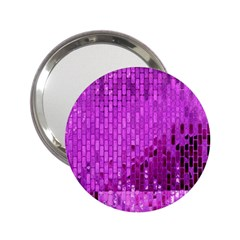 Purple Background Scrapbooking Paper 2 25  Handbag Mirrors by Jojostore