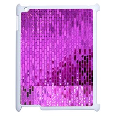 Purple Background Scrapbooking Paper Apple Ipad 2 Case (white) by Jojostore