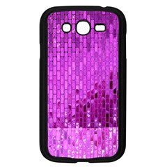 Purple Background Scrapbooking Paper Samsung Galaxy Grand Duos I9082 Case (black)