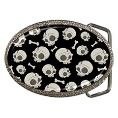 Halloween Skull Pattern Belt Buckles by Valentinaart