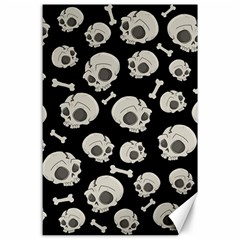 Halloween Skull Pattern Canvas 24  X 36  by Valentinaart