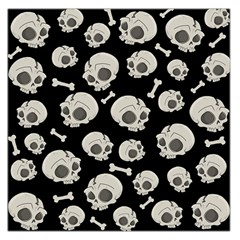Halloween Skull Pattern Large Satin Scarf (square) by Valentinaart