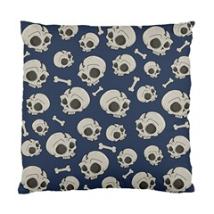 Halloween Skull Pattern Standard Cushion Case (one Side) by Valentinaart
