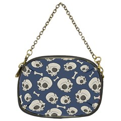 Halloween Skull Pattern Chain Purse (two Sides) by Valentinaart