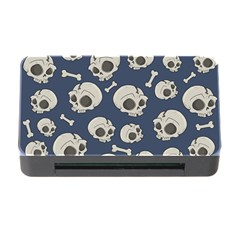 Halloween Skull Pattern Memory Card Reader With Cf by Valentinaart