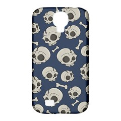 Halloween Skull Pattern Samsung Galaxy S4 Classic Hardshell Case (pc+silicone) by Valentinaart